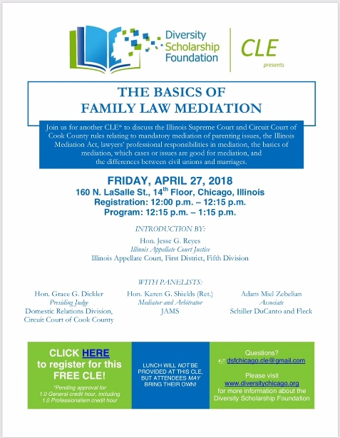CLE – The Basics of Family Law Mediation