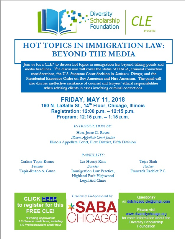 CLE – Hot Topics in Immigration