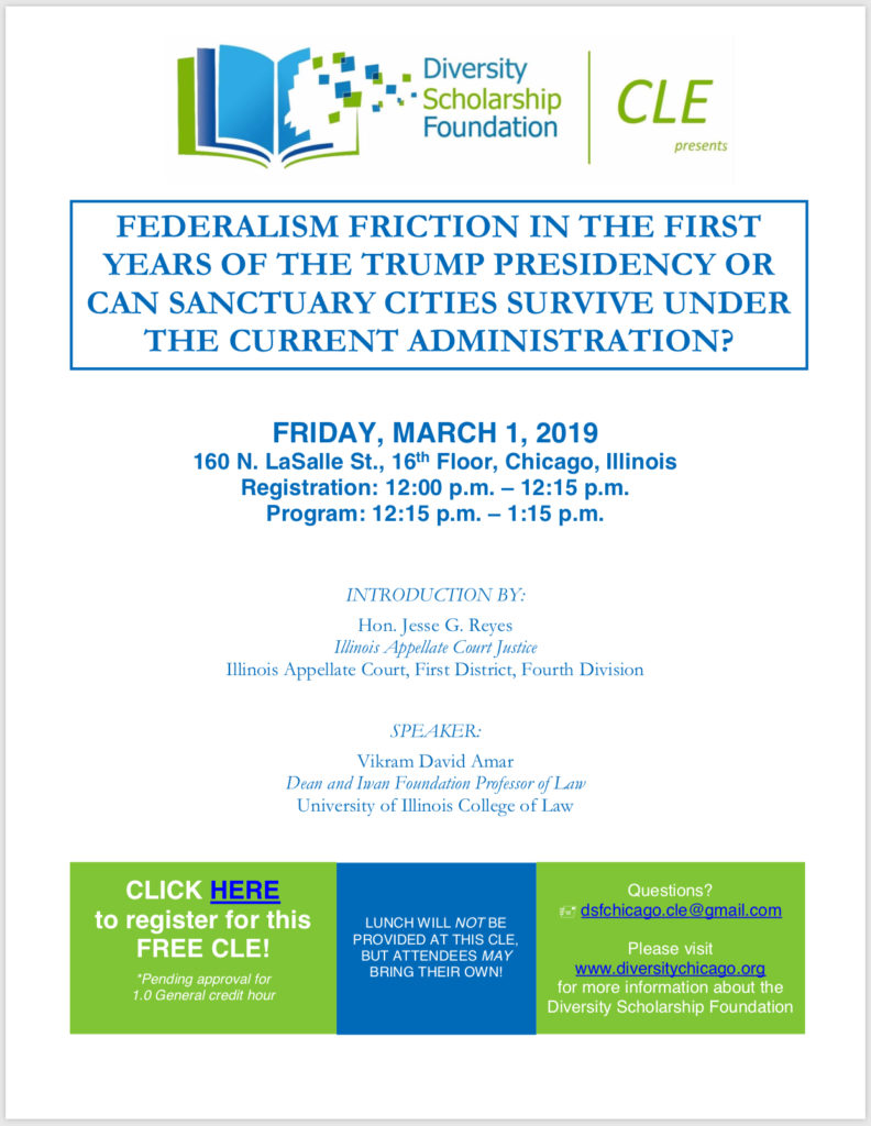 CLE – Federalism Friction in the First Years of the Trump Presidency of Can Sanctuary Cities Survive Under the Current Administration?