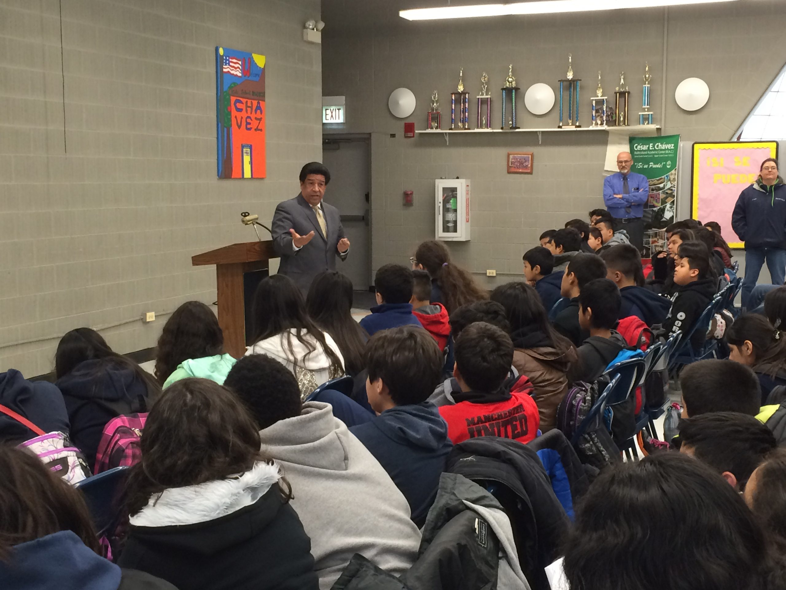 DSF President Speaks to Students at Cesar Chavez Elementary