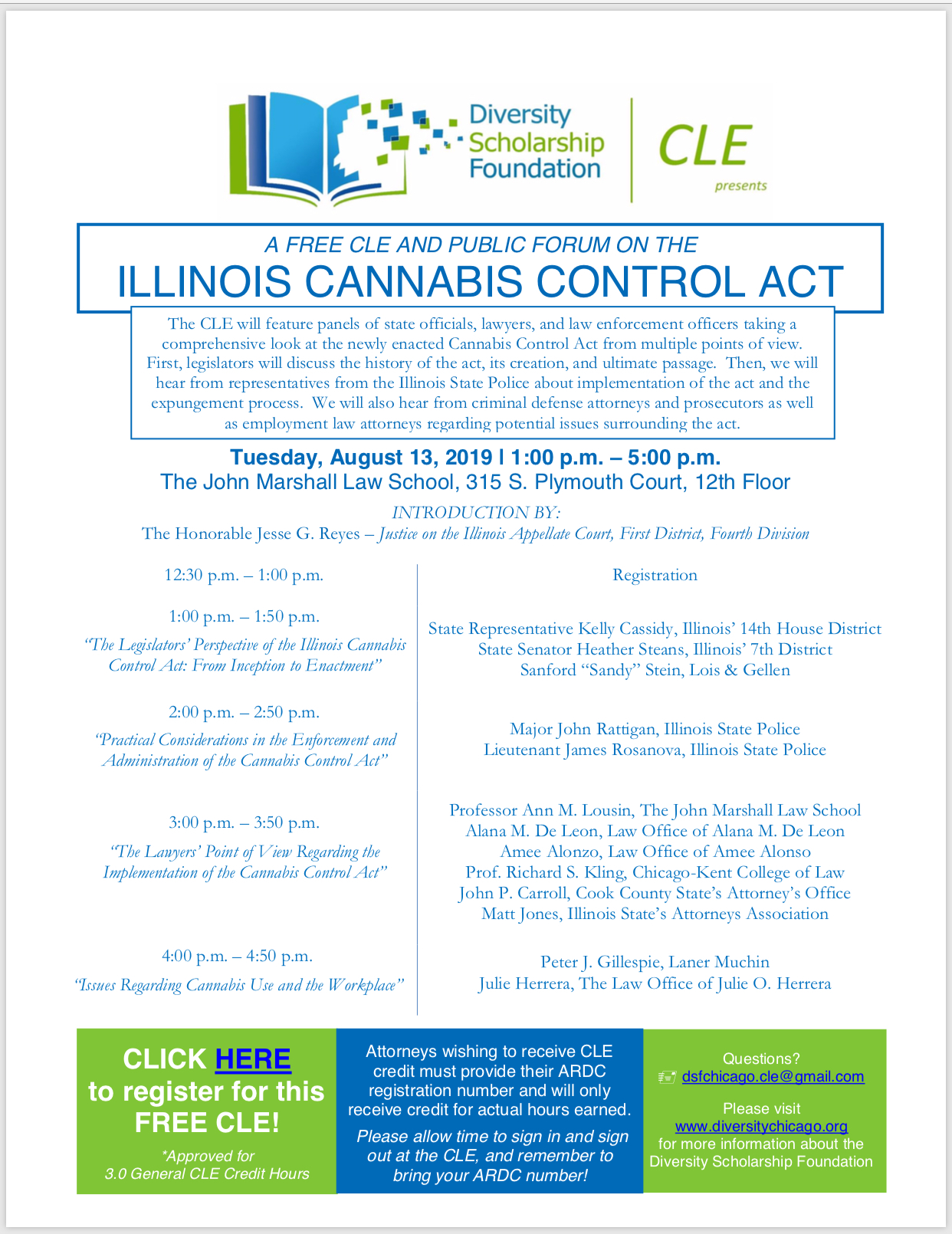 CLE – Illinois Cannabis Control Act