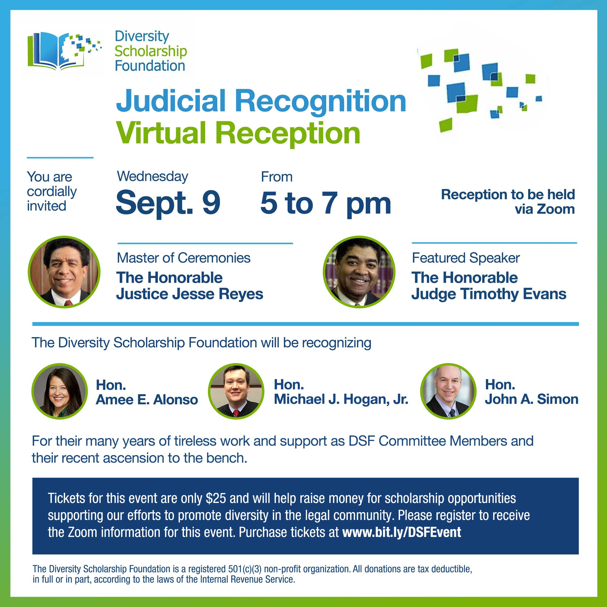 2020 Judicial Recognition Virtual Reception – RESERVE YOUR TICKETS!
