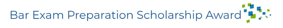 Bar Exam Preparation Scholarship Award