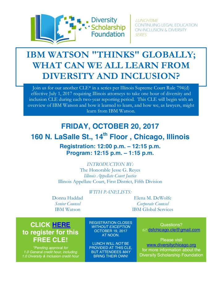 "CLE – IBM Watson ""Thinks"" Globally; What Can We All Learn from Diversity & Inclusion"