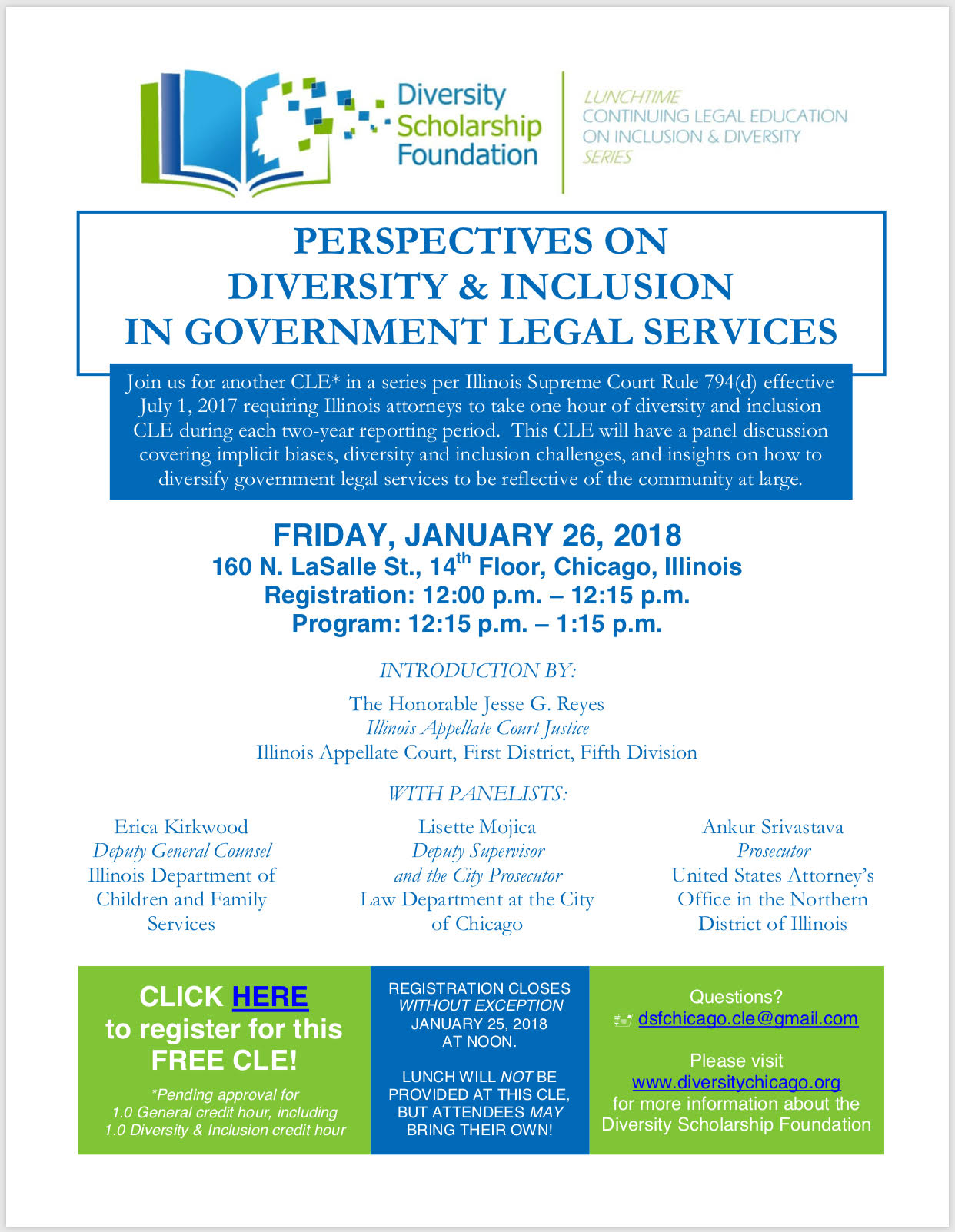 CLE – Perspectives on Diversity & Inclusion in Government Legal Services