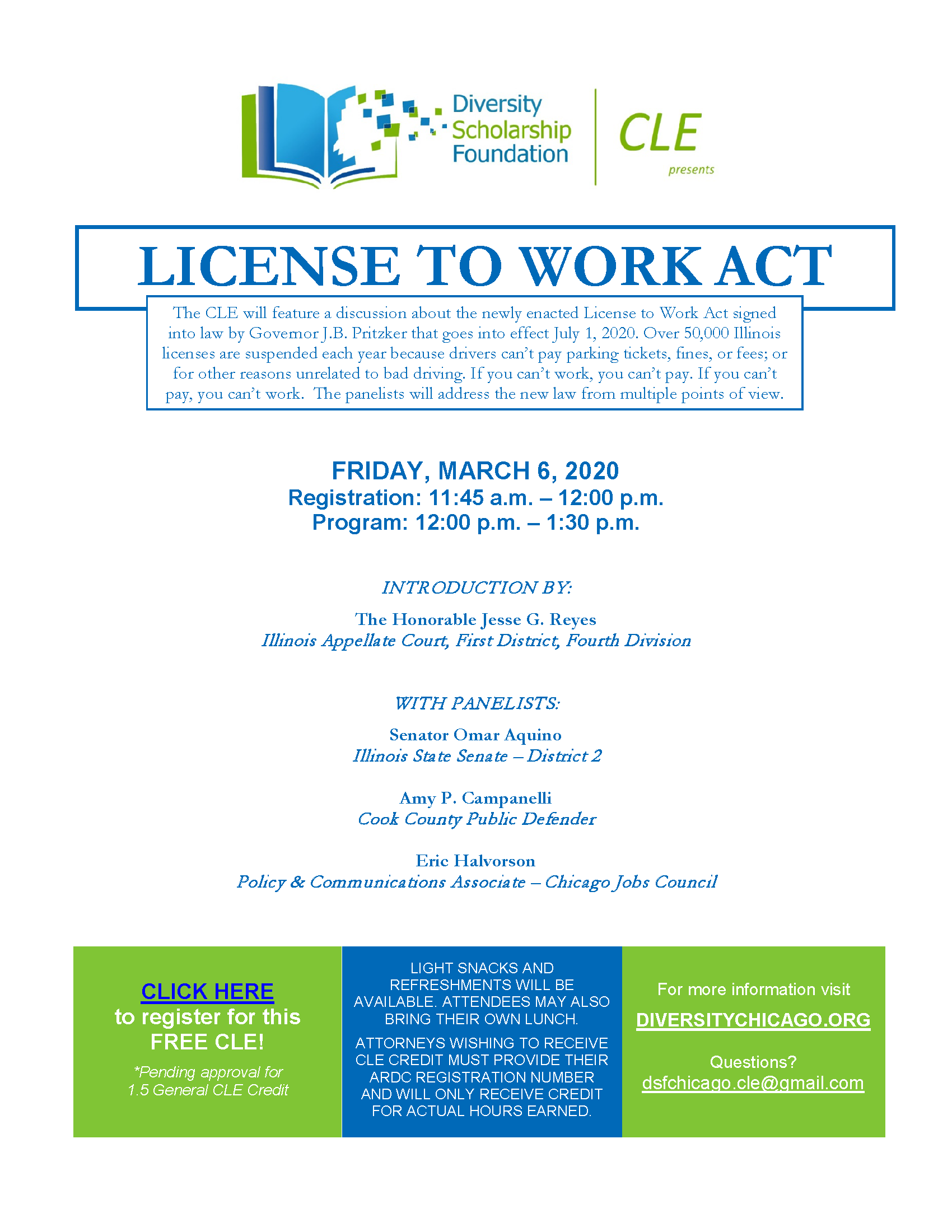CLE – License to Work Act