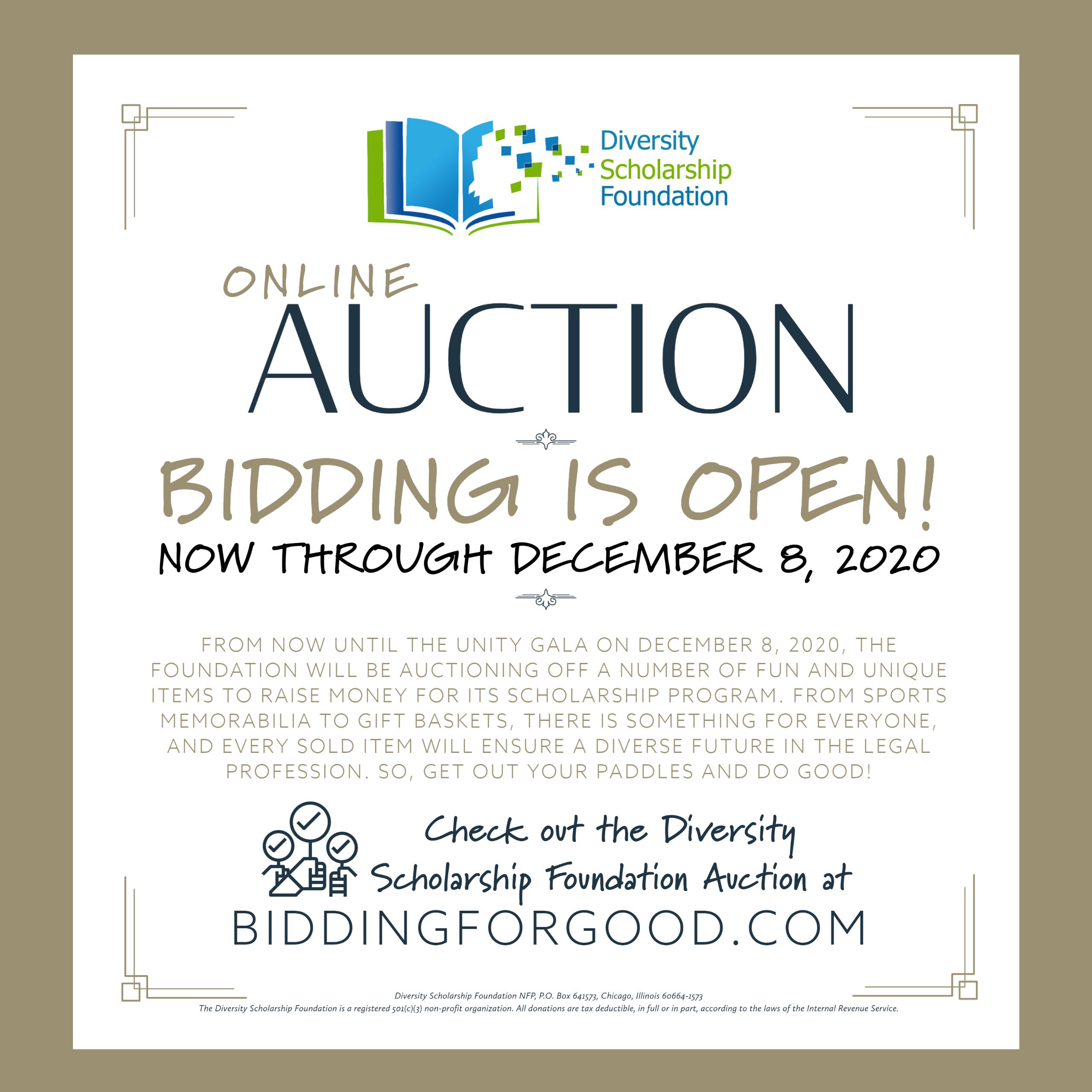 2020 Online Auction Begins!